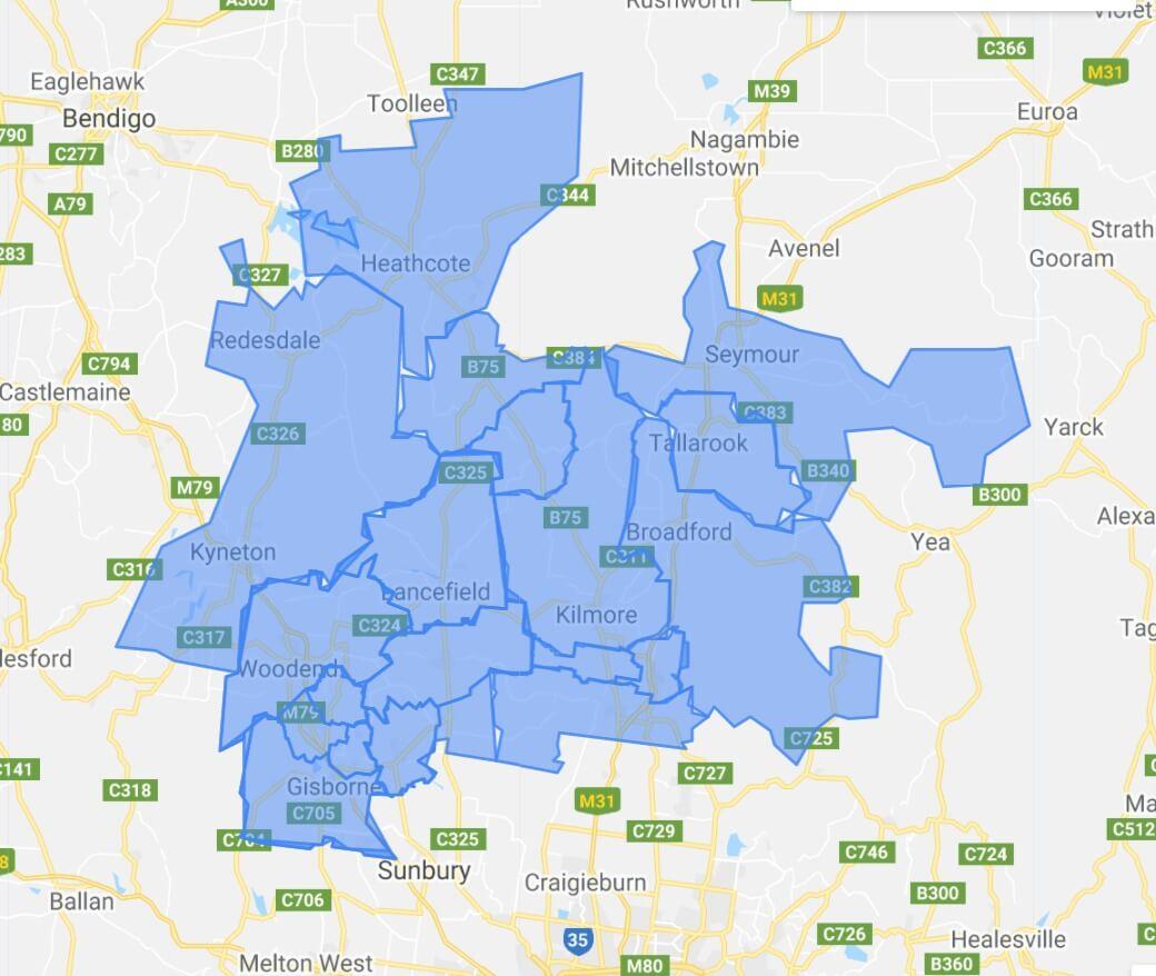 Area we service areas